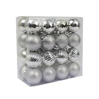 "Silver 32pc 1.5"" Christmas Ornament"