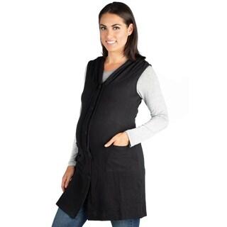 24/7 Comfort Apparel Sleeveless Maternity Cardigan Hoodie