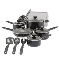 SilverStone Culinary Colors Aluminum 15-Piece Nonstick Cookware Set