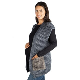 24/7 Comfort Apparel Maternity Pocket Sweater Vest