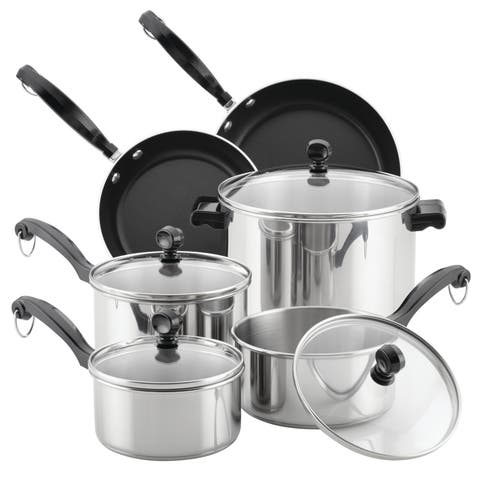 Farberware Classic Series 12-Piece Stainless Steel Cookware Set
