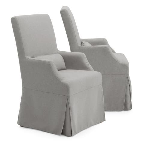 Astrid Slipcover Dining Arm Chair in Grey by RST Brands