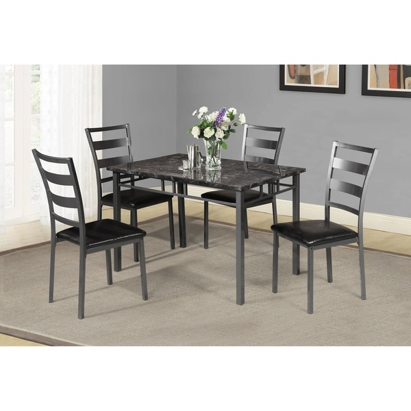 Shop Best Quality Furniture Casual 5-Piece Dining Set, Gun