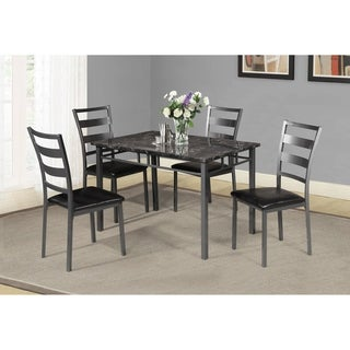 Best Quality Furniture Casual 5-Piece Dining Set, Gun Metal