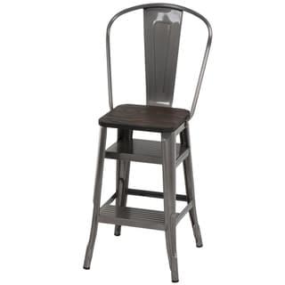 Shop Cosco Retro White Counter Chair Step Stool