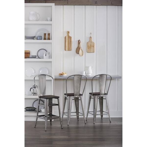 Cool Shop Cosco Luxor Metal 24 Inch Counter Stool With Steps Machost Co Dining Chair Design Ideas Machostcouk