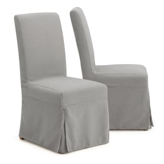 Astrid Slipcover Dining Armless Chair in Grey by RST Brands