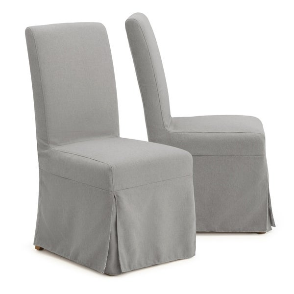 Dining Room Slipcovers Armless Chairs: Shop Astrid Slipcover Dining Armless Chair In Grey By RST Brands