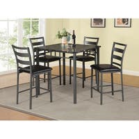 Best Quality Furniture Casual Counter Height 5-Piece Dining Set, Gun Metal