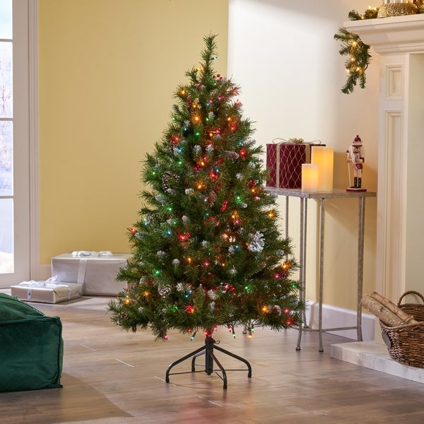 Shop 4.5-ft Spruce Pre-Lit or Unlit Artificial Christmas ...