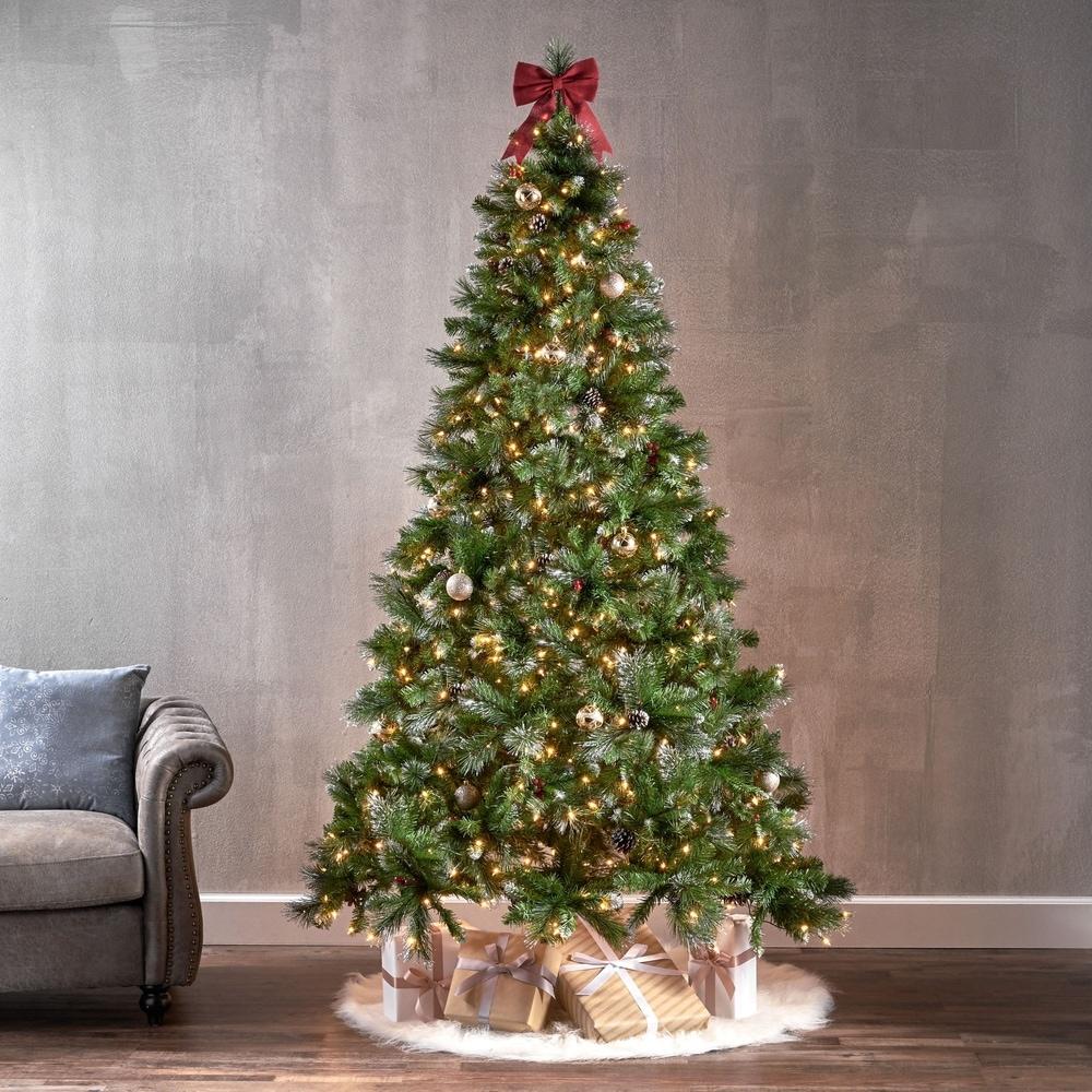 Premier Set of 5 Christmas Tree Tea Light Holders Blue and White XMas Decoration