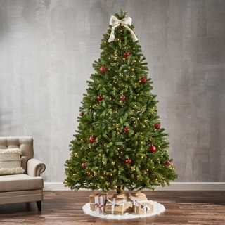 9-ft Mixed Spruce Pre-Lit String Light or Unlit Artificial Christmas Tree by Christopher Knight Home