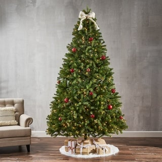 9-foot Mixed Spruce Pre-Lit or Unlit Artificial Christmas Tree by Christopher Knight Home