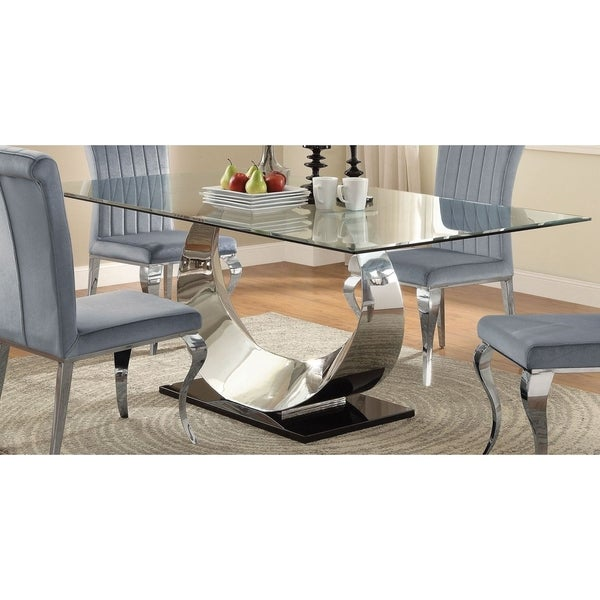Shop Luxurious Modern Design Stainless Steel Dining Set: Shop Modern Timeless Design Dining Table With Tempered