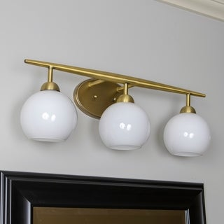 Michael Milk Glass 3-Light Vanity Light