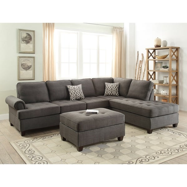 Lawton Sectional Sofa Chaise And Ottoman Set