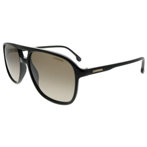 Carrera Aviator Carrera 173/S 807 HA Unisex Black Frame Brown Gradient Lens Sunglasses