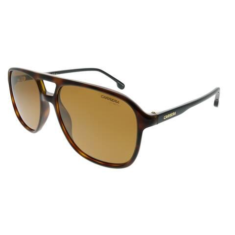 Carrera Aviator Carrera 173/S 086 K1 Unisex Dark Havana Frame Gold Mirror Lens Sunglasses