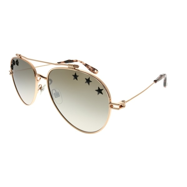 1c6c3cfaad46d Givenchy Aviator GV 7057 STARS DDB NQ Unisex Gold Copper Frame Brown Mirror  Gradient Stars