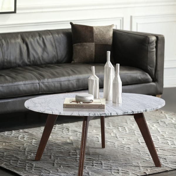 Magnificent Shop Poly And Bark Riley Marble Round Coffee Table Free Machost Co Dining Chair Design Ideas Machostcouk