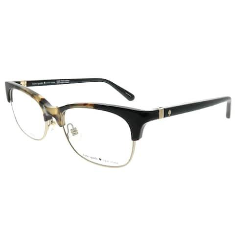 Kate Spade Rectangle Adali 086 Women Dark Havana Frame Eyeglasses