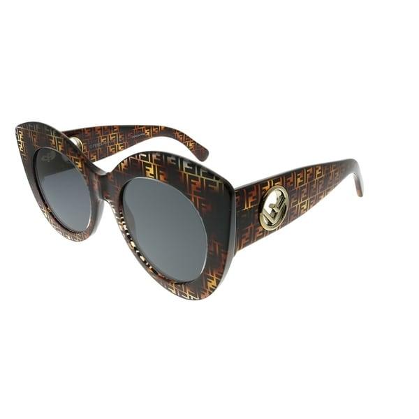 63e16438d0a6 Shop Fendi Cat-Eye FF 0306 S F Is Fendi 086 IR Women Dark Havana ...
