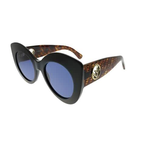 3a530806aee83 Fendi Cat-Eye FF 0306 S F Is Fendi WR7 KU Women Black Havana Frame