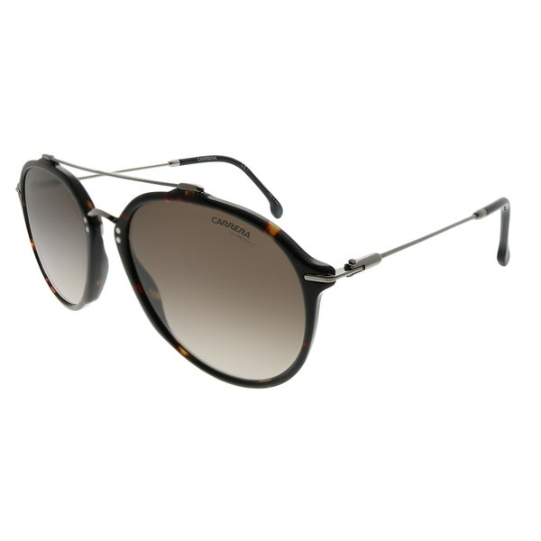 7efff88278b45 Carrera Aviator Carrera 171 S 086 HA Unisex Dark Havana Frame Brown  Gradient Lens Sunglasses