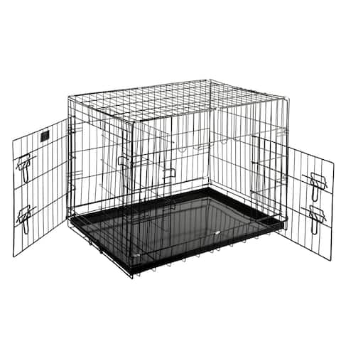 """Pet Trex Quality 30"""" Folding Pet Crate Kennel Wire Cage"""