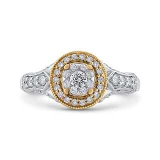 14K Two Tone Gold 7/8ct TDW Diamond Vintage-Styled Engagement Ring (I-J, I1)