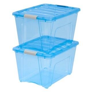 IRIS 54 qt. Stack & Pull Plastic Storage Bin (Pack of 6) (As Is Item)