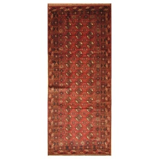 Handmade Balouchi Wool Rug (Afghanistan) - 4'4 x 10'