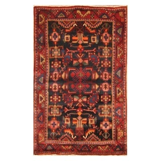 Handmade Herat Oriental Persian Hand-knotted Nahavand Wool Rug (4'7 x 7'6)