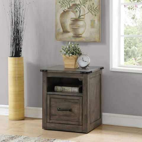 The Gray Barn Raven Gulch Smoked Grey File Cabinet