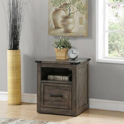The Gray Barn Raven Gulch Smoked Grey File Cabinet