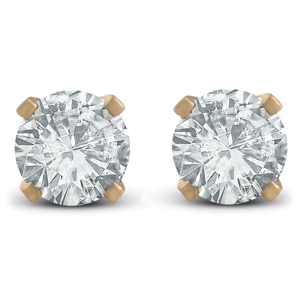 e0770340f Shop Pompeii3 14k Yellow Gold 1/2cttw Diamond Studs - On Sale - Free  Shipping Today - Overstock - 23547475