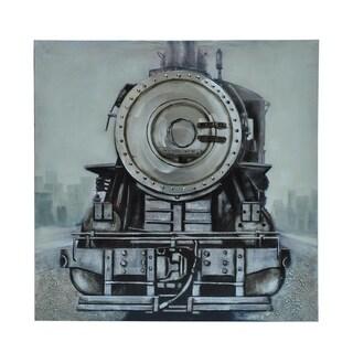 Locomotive Multicolor Vertical Canvas Art - Multi-color