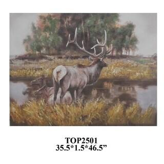 Trophy 2 Multicolor Horizontal Oil Painting - Multi-color