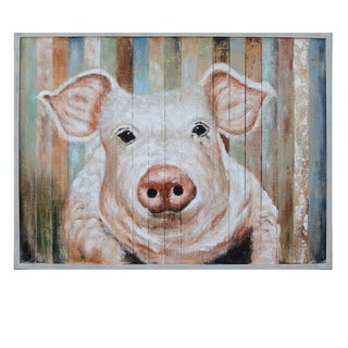Porky Multicolor Horizontal Oil Painting - Multi-color