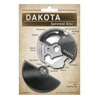 Dakota 14-in-1 Survival Utility Disk with Stainless Steel Multi-Tool