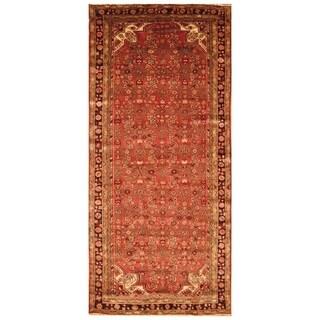 Handmade Herat Oriental Persian Hand-knotted Semi-Antique Hamadan 1960's Wool Rug (5' x 10'7)