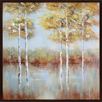 Golden Square Handmade Oil Painting On Canvas