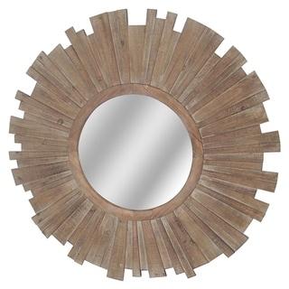 Brandon Natural Horizontal and Vertical Fir Wood Mirror - A/N