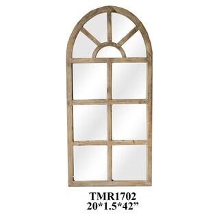 Wesley Natural Wood Vertical Wall Mirror - A/N
