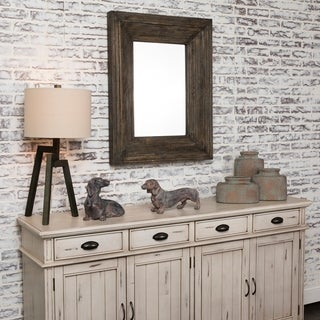 Quentin Brown and Grey Fir Wood Mirror - A/N