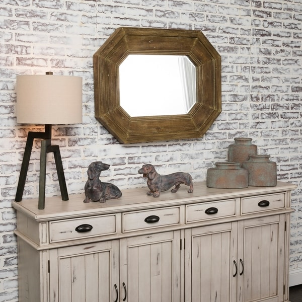 Sawyer Natural Horizontal and Vertical Fir Wood Mirror - A/N
