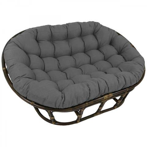 Blazing Needles 78-inch Indoor/Outdoor Double Papasan Cushion