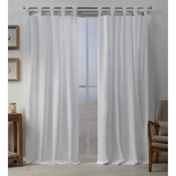 ATI Home Loha Linen Braided Tab Top Window Curtain Panel Pair. Opens flyout.