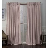 ATI Home Velvet Heavyweight Pinch Pleat Top Curtain Panel Pair