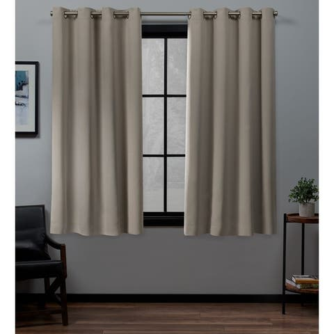 ATI Home Academy Total Blackout Grommet Top Curtain Panel Pair